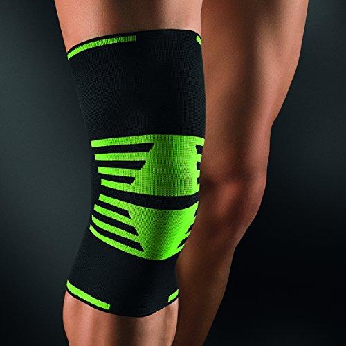 bort 1440SP medium ActiveColor Sport Kniebandage rechts und links tragbar, medium, schwarz