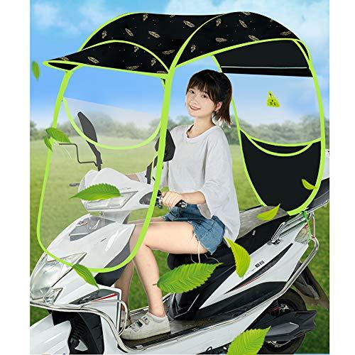 KONFA Motocicleta eléctrica toldo toldo Protector de Lluvia, Lluvia Cubierta de protección Solar para la batería del Coche Scooters,Golden Feathers