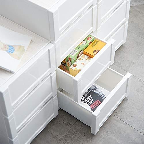 Gabinete de almacenamiento de cajones Baño altos estantes gabinete de la unidad de almacenamiento Tallboy cajonera Gabinete de almacenamiento for el dormitorio, blancos Gabinete de archivo móvil