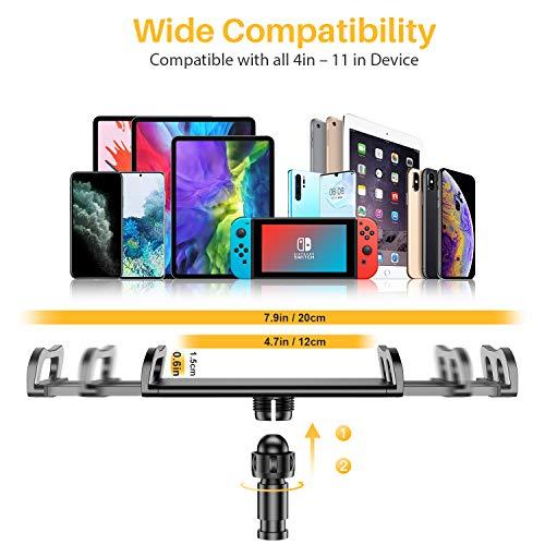 Tryone Tablet Ständer, verstellbare Tablet Halterung - Tablet Handy Halter Stand Ständer auf Tisch für iPad 10.5, 9.7, Air Mini 2 3 4, E-Reader, Switch und weiteres Geräte von 4 bis 11 Zoll