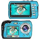 Waterproof Camera 4K Underwater Cameras 56 MP Waterproof Digital Camera Dual Screen TFT Displays Selfie Video Recorder Underwater Cameras for Snorkeling on Vacation