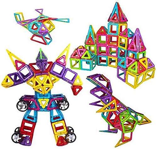 CHAIZIYU Block-Spielzeug-Set von 200 Sätzen von MagnetStücken Variety der Zugbauteile von Kinderbausteinen Spielzeug Magnetic Stück-Magnete mit Intelligenz Aufbewahrungsbox,