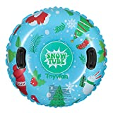 Toyvian Snow Tube,37â€Inflatable Snow Sleds with Handles,6mm Thickness Material for Highly Tolerant...