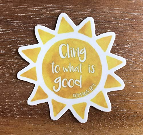 DKISEE Cling naar Wat is goed Sunshine Laptop Stickers Trendy Decals, 4 Inch Vinyl Stickers Bagage Stickers Phonecase Stickers, Set van 2