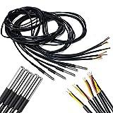 5 Piezas 3m Cable DS18b20 Sensor de Temperatura Digital de Acero Inoxidable y con Característica Impermeable para Arduino y Raspberry Pi