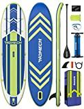 """Homech Stand Up Paddle Board 10'10 × 32"""" × 6"""" All Around SUP Paddleboarding with Dual-Chamber Hand Pump Backpack SUP Racing Touring Fishing Water Yoga All Skill Levels"""