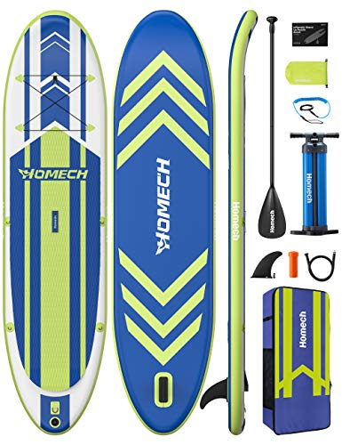 "Homech Stand Up Paddle Board 10'10 × 32"" × 6"" All Around SUP Paddleboarding with Dual-Chamber Hand Pump Backpack SUP Racing Touring Fishing Water Yoga All Skill Levels"