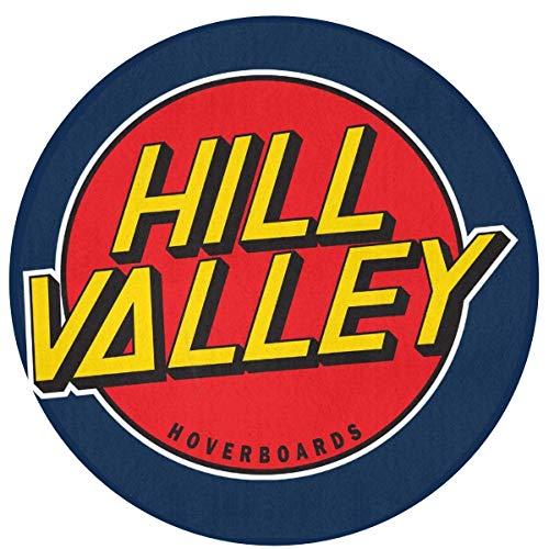 Liz Carter 60cm Hill Valley Hoverboards Zurück in die Zukunft Teppich Runde Vordermatte, rutschfest waschbar absorbieren Feuchtigkeit und widerstehen Schmutz Teppiche