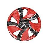 ERYUEL Radverkleidung 4 stücke autofahrzeug Rad Rand Haut Abdeckung hubcap Rad Abdeckung für 15 Zoll Rad autozubehör Auto-Radkappen...