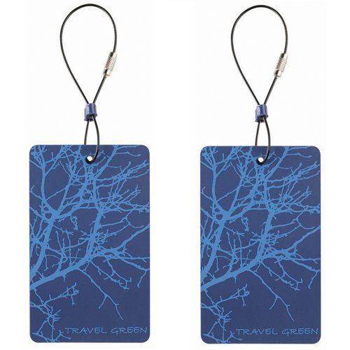 Lewis N. Clark Travel Green 2-Pack Luggage Tags, Blue, One Size