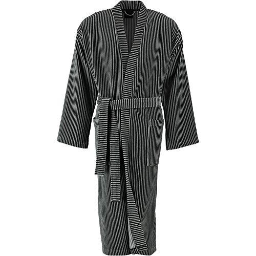 LAGO Bademantel Herren Kimono 805 anthrazit - 77 XL