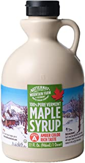 Butternut Mountain Farm 100% Pure Maple Syrup From Vermont, Grade A (Prev. Grade B), Dark Color, Robust Taste, All Natural, Easy Pour,