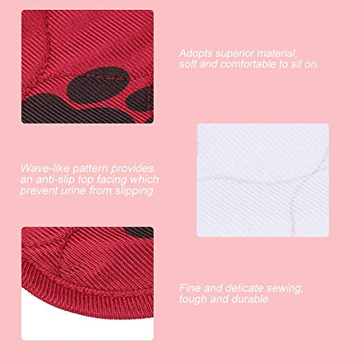 Sugoyi UK Puppy Pet Dog Training Pee Diaper Bed Pad Waterproof Reusable Washable Mat(red, 7080cm)