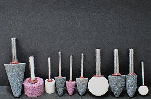 GO/ON Schleifstein-Set 10 tlg. Polierstifte Scheifstifte