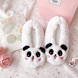YANGLAN Meng cute little cartoon animal shaped interior package with non-slip bottom cotton slippers soft bottom shoes women particle home Household slippers (Color : E, Size : (36~37))