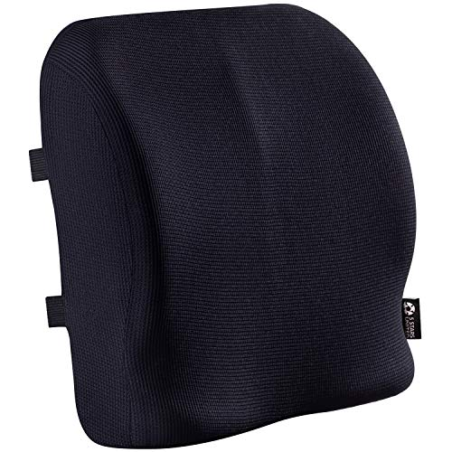 Back Support for Office Chair - Memory Foam Lumbar Pillow - Perfect Cushion for Car, Computer and Desk Seat