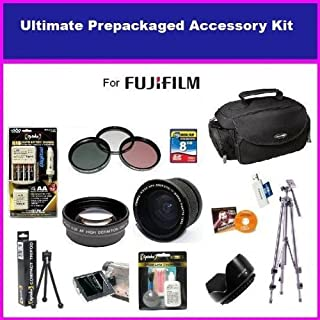 Fuji Finepix Fujifilm FinePix HS10 S9500 S9100 S9000 S6000 Ultimate Accessory Package Package Includes 0.35 Wide Angle Lens