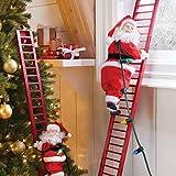 BrylaneHome Christmas Mr. Christmas Animated Musical Climbing Santa, Large