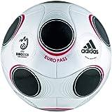 Adidas EURO 08 Europass Matchball,Größe 5, metallic white/black/chrome in Präsentationsbox