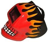 Redtail Red Skull Flame Auto-Darkening Welding Helmet, Model 10252