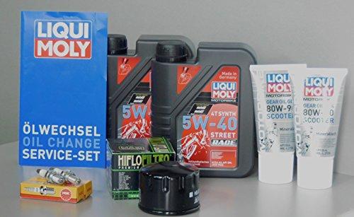 MotorFunSports Kit de réparation Piaggio X9 500 Huile filtre à huile bougie d'allumage Service d'inspection MG