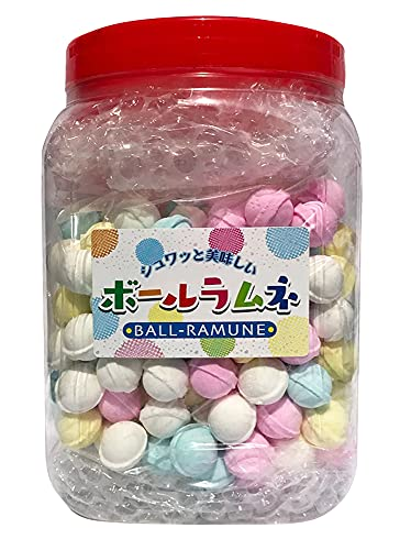 森本商店 カラフルボールラムネ 便利なポット入り ラムネ菓子 おやつ 950g