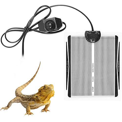 Chlggzw Manta Calefactora para Reptiles 15W Alfombrilla Calefactora de Terrario con Controlador de Temperatura, Cojín Térmico para...