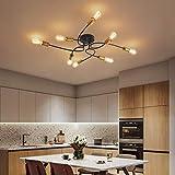 NEWSEE Flush Mount Ceiling Light Fixture Sputnik Chandelier Industrial Bedroom Lighting Fixtures Modern Style for Kitchen Dining Room Living Room Kitchen Hallway Cafe Bar (8 Light)