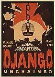 ZHANGKEKE Movie Posters Django Unchained Retro Poster Art