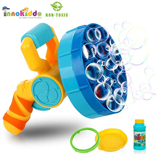 INNOKIDDO Electric Blow Bubble Machine for Kids, Kids Toys, Toy Bubble Blaster for Toddlers , Bathing Toy, Bubble Maker Machine for Kids. The Best Kids Toys. Bubble Machine for Kid, Bubble Blower…