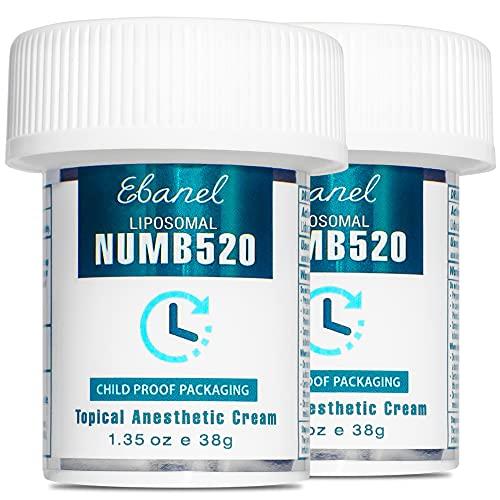 Ebanel 2-Pack 5% Lidocaine Topical Numbing Cream Maximum Strength