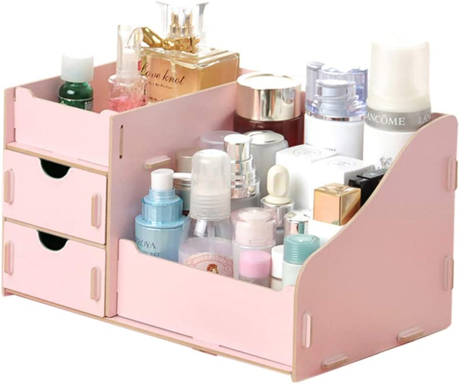 DSstyles Makeup Organizer 27.5x17 Outlet SALE Jacksonville Mall Wooden Cosmetic x13.5cm