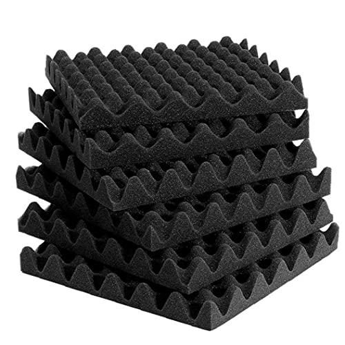 TongICheng Paneles-6pcs Espuma Acústica Azulejos Acústica De La Espuma Que Ruido Acústicos Absorbentes del Sonido Estudio De Aislamiento De Espuma De Decoración De La Pared