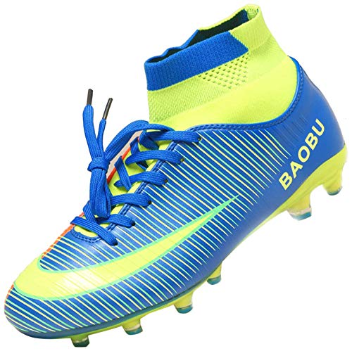 Syndra Scarpe da Calcio Uomo Ragazzo Scarpe da Allenamento per I Giovani Spike Professionale Scarpe Sportive da Esterno Unisex