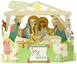 Signature Collection - Tarjeta de Navidad de Hallmark (3D, diseño de belén en papel...