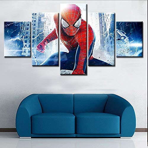5 Panels Spider Man Gemälde Movie Poster Wand Leinwand Kunstdruck Dekoration Bilder Im Schlafzimmer Kinderzimmer Dekoration(size 1)