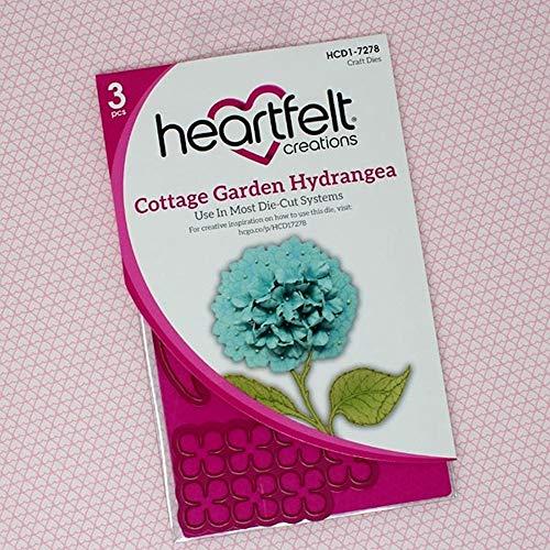 Bundle Heartfelt Creations Dies+Stamps Cottage Garden Hydrangea, HCD17278+HCPC3900