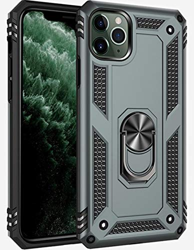 iPhone 11 pro max case [ Military Grade ] 15ft. Drop Tested Protective Case | Kickstand | Compatible for Apple iPhone 11 pro max 6.5 Inch 2019- Green