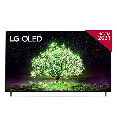 LG OLED77A16LA Smart TV 4K 77 , TV OLED Serie A1 2021, Processore α7 Gen4, Dolby Vision IQ, Wi-Fi, webOS 6.0, FILMMAKER MODE, Game Optimizer, Google Assistant e Alexa Integrati, Telecomando Puntatore