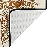 FAJRO Handgezeichnete Eulen-Teppiche für Eingangsbereich, Fußmatte, Teppich, Mehrmuster-Fußmatte, Schuhe, Schaber, Home Dec, rutschfest, für drinnen und draußen, Polyester, 1, 63 x 48 inch - 3