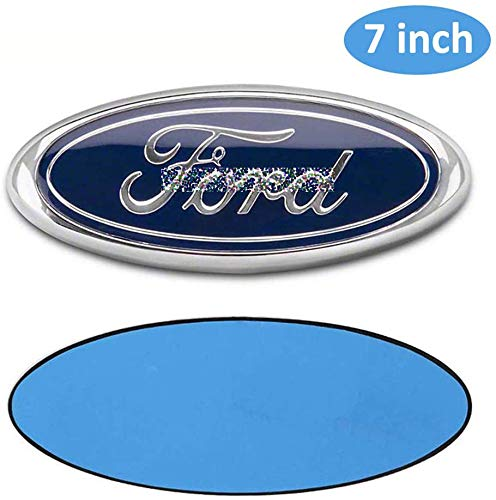 7 Inch Emblem For F o r d Front Grille Tailgate Emblem 3D Oval 3M Double Side Adhesive Tape Sticker Badge for F-o-r-d Escape Excursion Expedition Freestyle F150 F250 F350