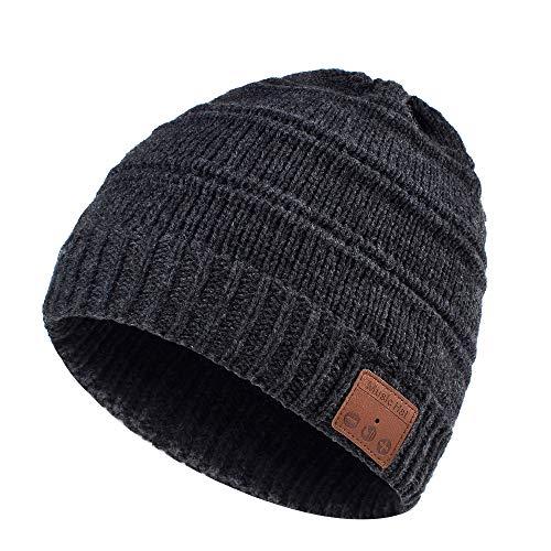 Geschenke für Männer Frauen Bluetooth Mütze - Ausgefallene Geschenke Weihnachten V5.0 Bluetooth Mütze mit Kopfhörern & Freisprechfunktion, Personalisierte Geschenke Unisex Winter Musik Strickmütze