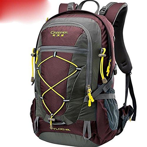 Outdoor randonnée sac à dos ultra léger 40L usure tour d'épaule-voyage sac housse imperméable d'équitation , red 40 litres