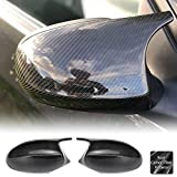 AeroBon Real Carbon Fiber Side Mirror Covers Compatible with 2009-12 BMW 3-Series E90 E91 E92 E93 LCI (Facelift)