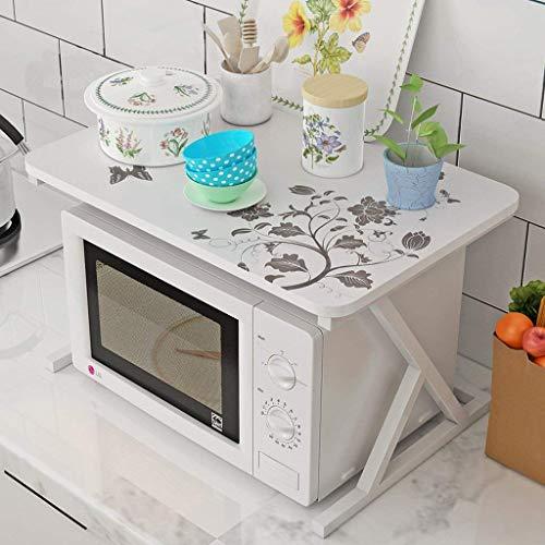XIAOJIAN Fácil de limpiar Microondas Estantes de horno Mámetro Marco de metal Partition Piso 2 Piso Estilo nórdico Ventilación de perforación libre Salud ambiental No deformado Suministros de cocina /