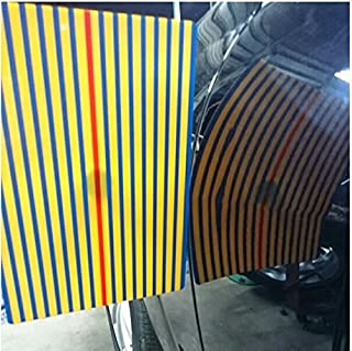 Super PDR Car Dent Kits Stripe Line Board Paintless Dent Removal Repair Tool with Ajustment Holder Yellow