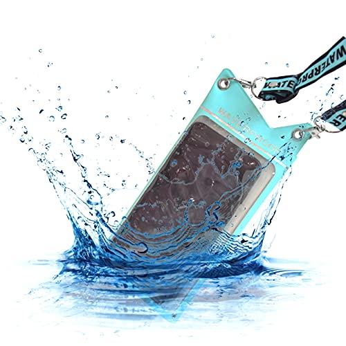 Uni-Fine Impermeable Móvil Universal Sello Doble Bolsa para Móvil Estanca a Prueba Funda Impermeable Móvil para iPhone6P / 7P / 8P / XS, Xiaomi 8/9/10 Redmi Note/Mix, Samsung, Sony