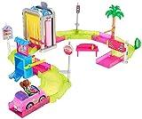 Barbie On the go, Túnel de lavado, muñeca con accesorios (Mattel FHV76) , color/modelo surtido