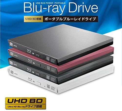 ロジテックブルーレイドライブ外付けBlu-rayUHDBDUSB3.0対応再生編集書込ソフト付ブラックLBD-PVA6U3VBK