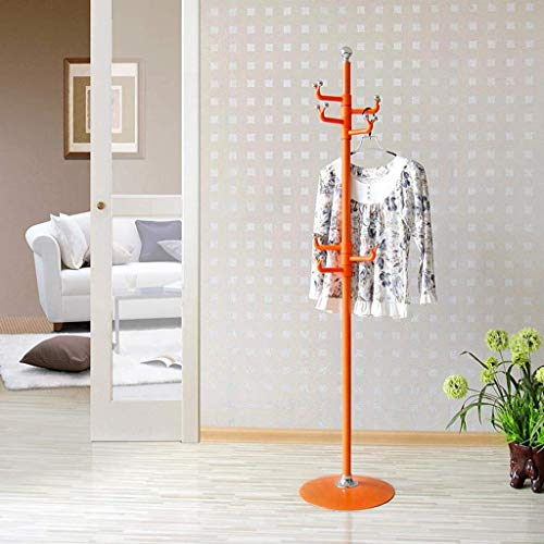 NSYNSY percheros para Muebles, percheros Independientes Percheros de Metal Ganchos para percheros Almacenamiento de Sombreros Pasillo Dormitorio (Color: Naranja)